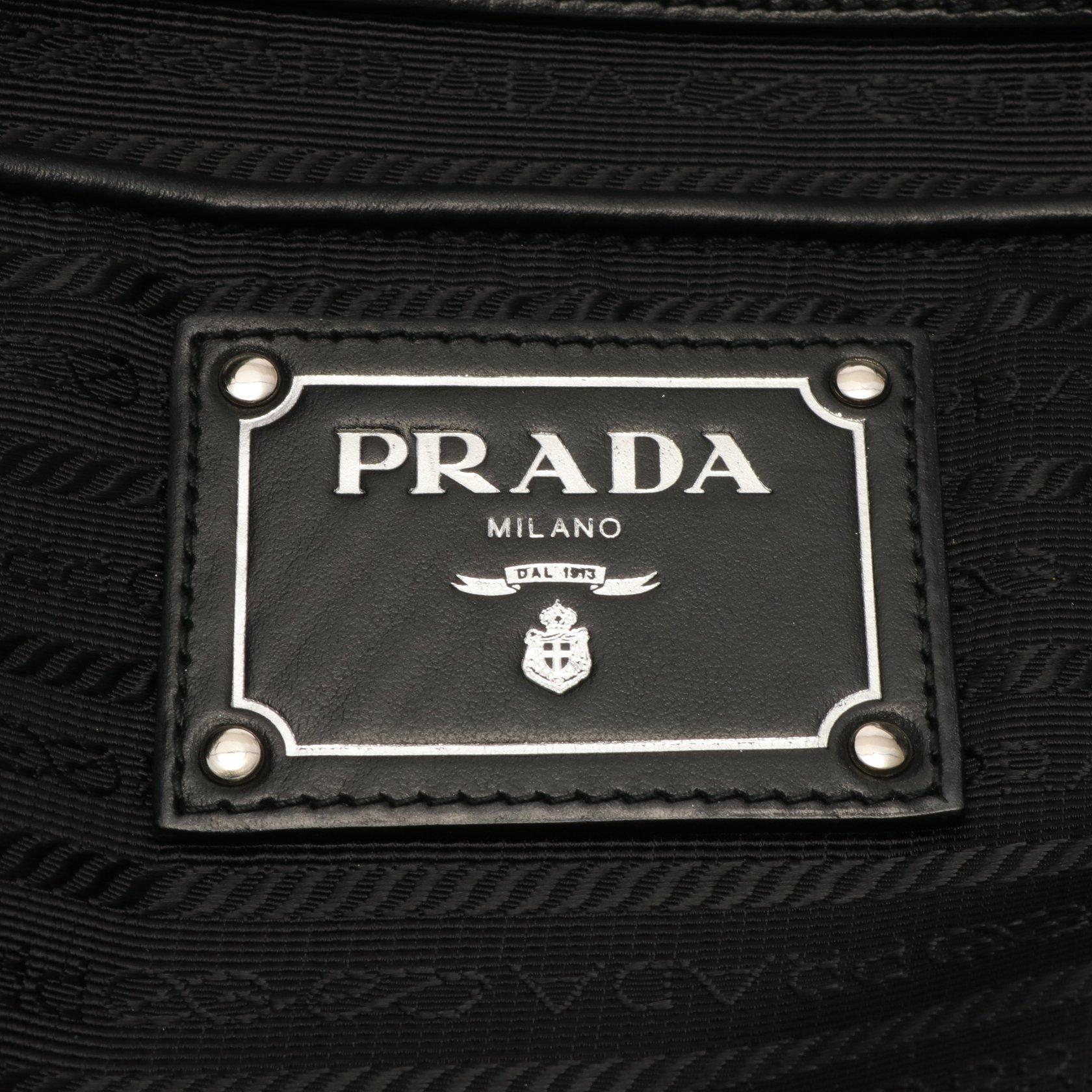 PRADA・バッグ・ ショルダーバッグ トートバッグ ナイロン レザー ブラック