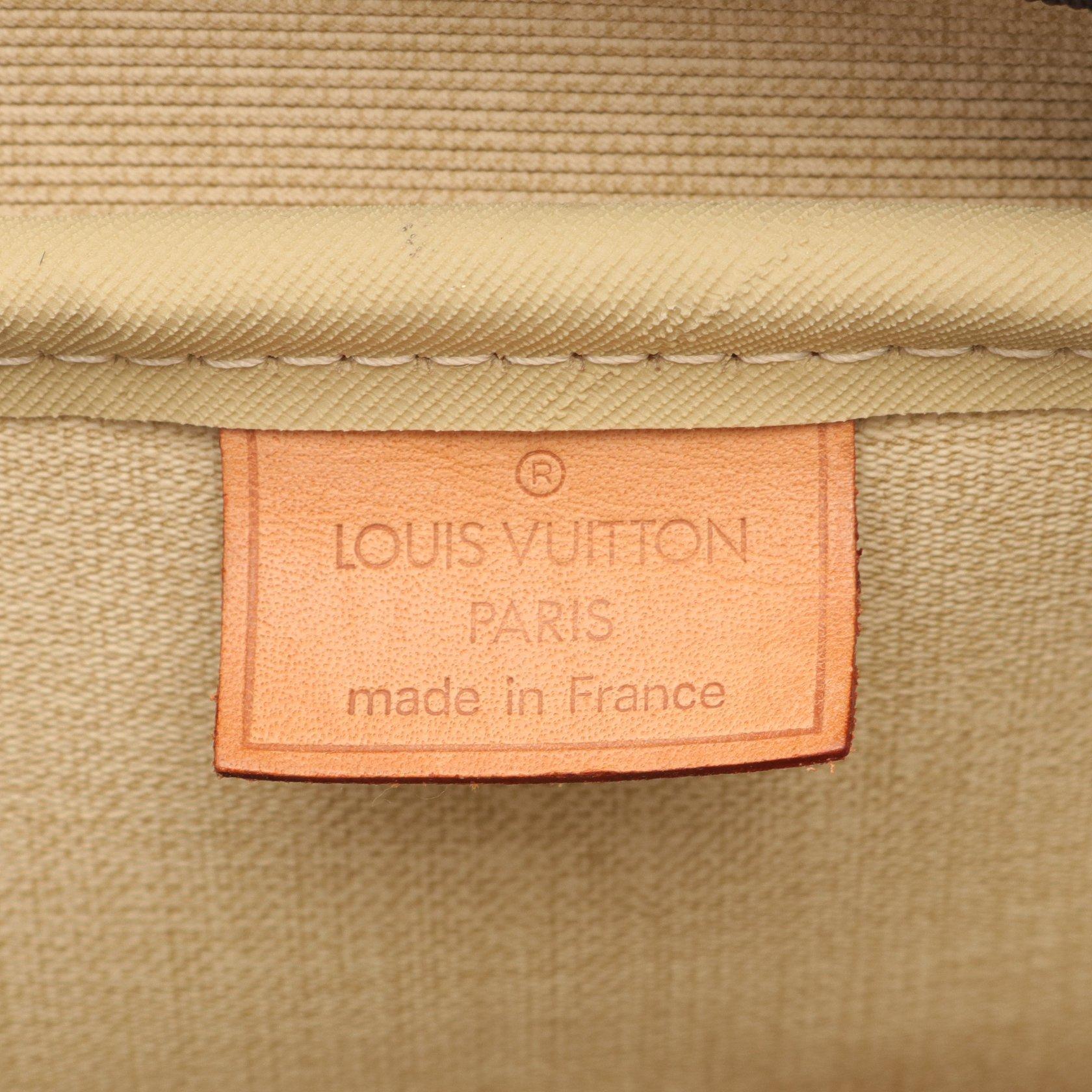 LOUIS VUITTON・バッグ・ドーヴィル ボーリングヴァニティ モノグラム ハンドバッグ PVC レザー ブラウン