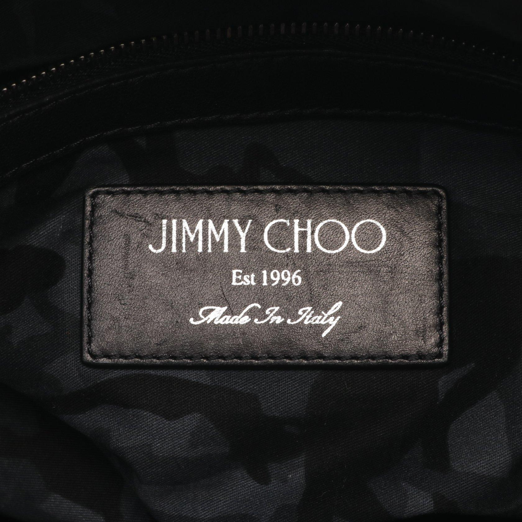 JIMMY CHOO・バッグ・DEREK クラッチバッグ レザー ブラック スタースタッズ