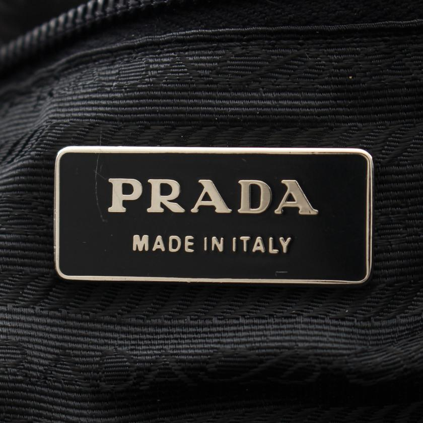 PRADA・バッグ・ ボストンバッグ ナイロン レザー ブラック 2WAY