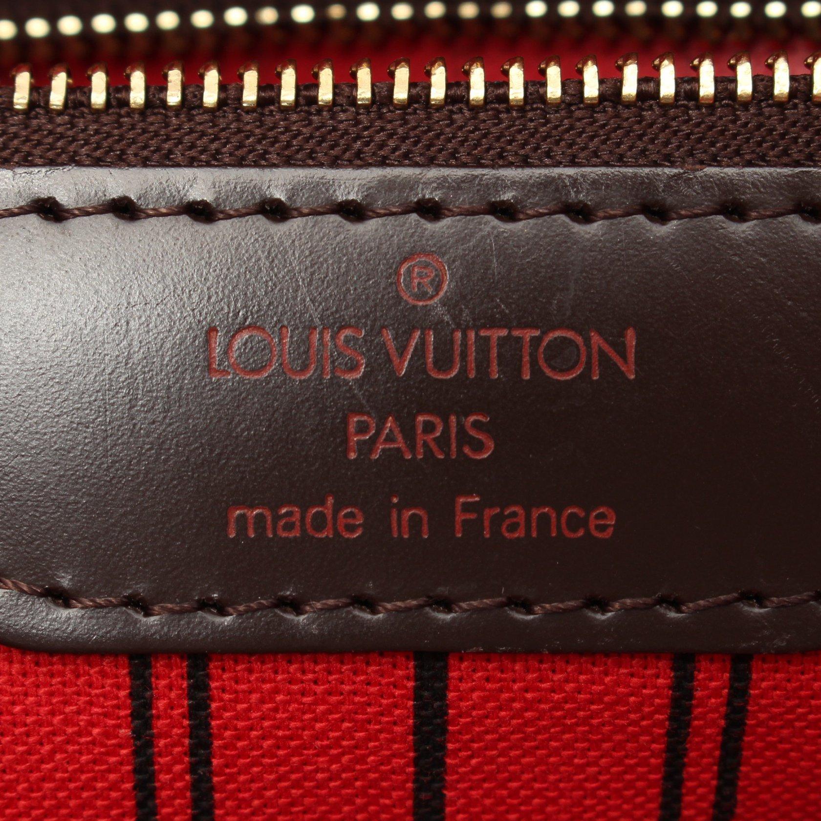 LOUIS VUITTON・バッグ・ネヴァーフルMM ダミエエベヌ ショルダーバッグ トートバッグ PVC レザー ブラウン