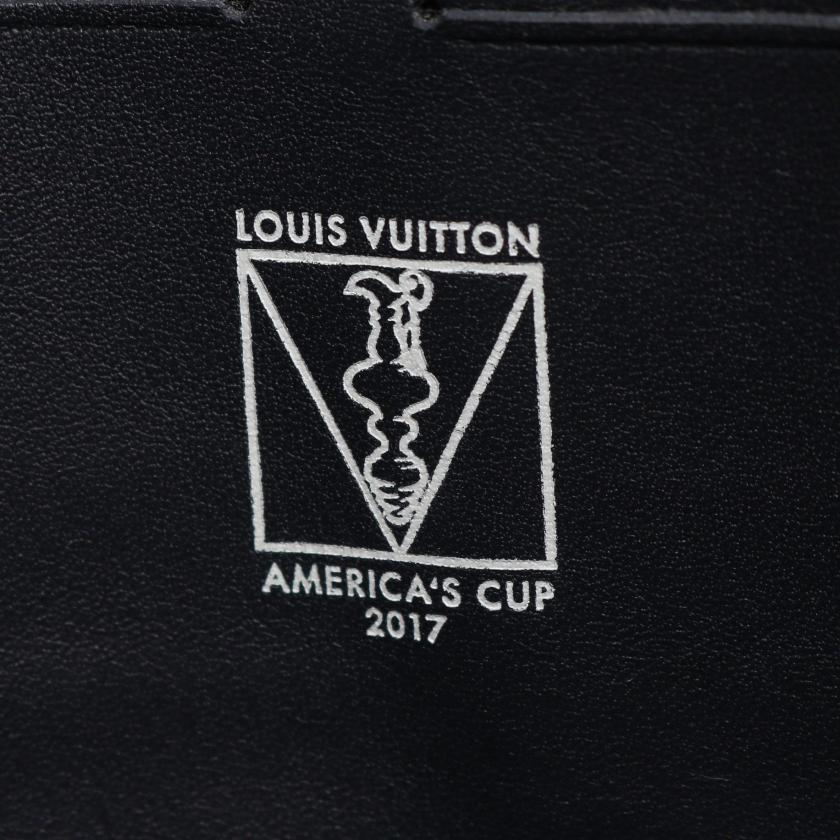 LOUIS VUITTON・バッグ・ポシェット ヴォワヤージュ ダミエコースト クラッチバッグ PVC レザー ホワイト ネイビー イエロー アメリカズカップ2017