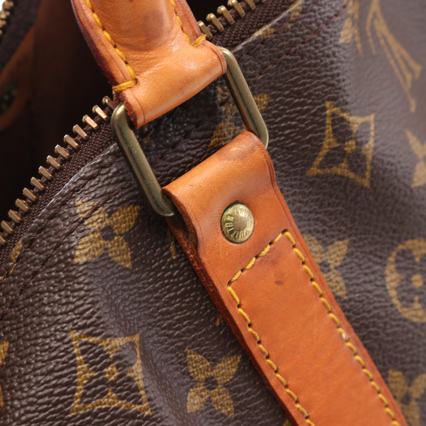LOUIS VUITTON・バッグ・キーポル60 モノグラム ボストンバッグ PVC レザー ブラウン