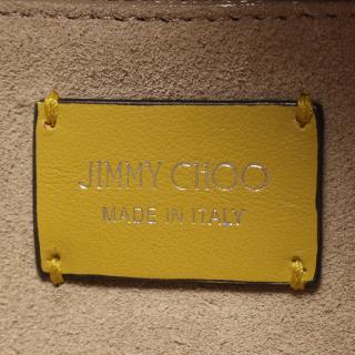 JIMMY CHOO・バッグ・VARENNE BOWLINGS バレンヌ ボーリング JCロゴ ハンドバッグ レザー イエローグリーン 2WAY