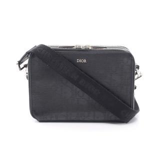 Dior HOMME・バッグ・オブリーク ギャラクシー トロッター ショルダーバッグ レザー ブラック パンチング