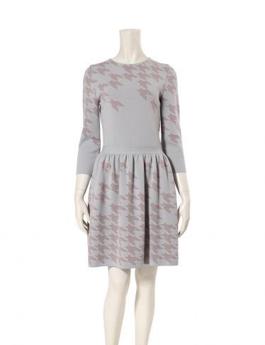 reputable site ea17e 7f101 Christian Dior(クリスチャンディオール)ワンピース ウール混 グレー ピンクベージュ|中古ブランド通販のRECLO