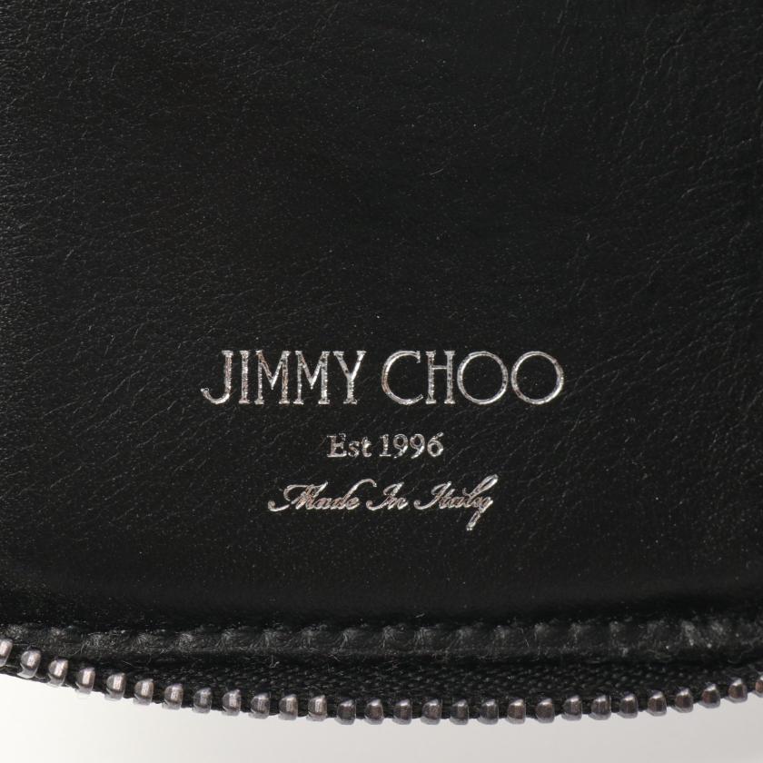JIMMY CHOO・財布・小物・CADET カードケース キーケース スエード ダークグレー スタースタッズ