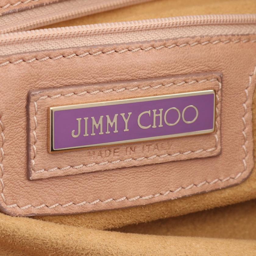 JIMMY CHOO・バッグ・ ショルダーバッグ パイソン レザー ベージュ ブラウン ピンクベージュ