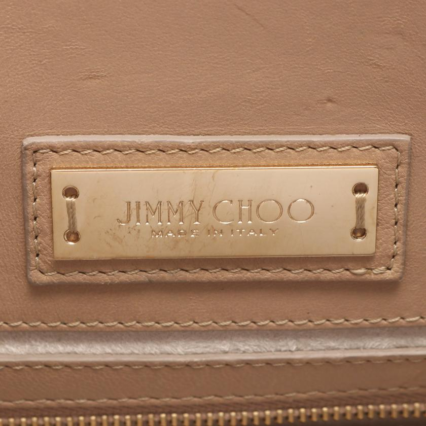 JIMMY CHOO・バッグ・ライリー ハンドバッグ レザー ベージュ 2WAY スタースタッズ