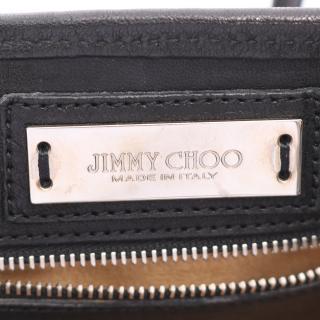 JIMMY CHOO・バッグ・SASHA S ハンドバッグ レザー ブラック スタースタッズ