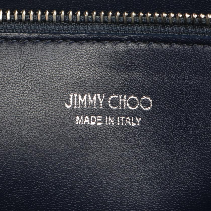 JIMMY CHOO・バッグ・LAYLIN TOTE ハンドバッグ トートバッグ キャンバス レザー ベージュ ネイビー 2021SS