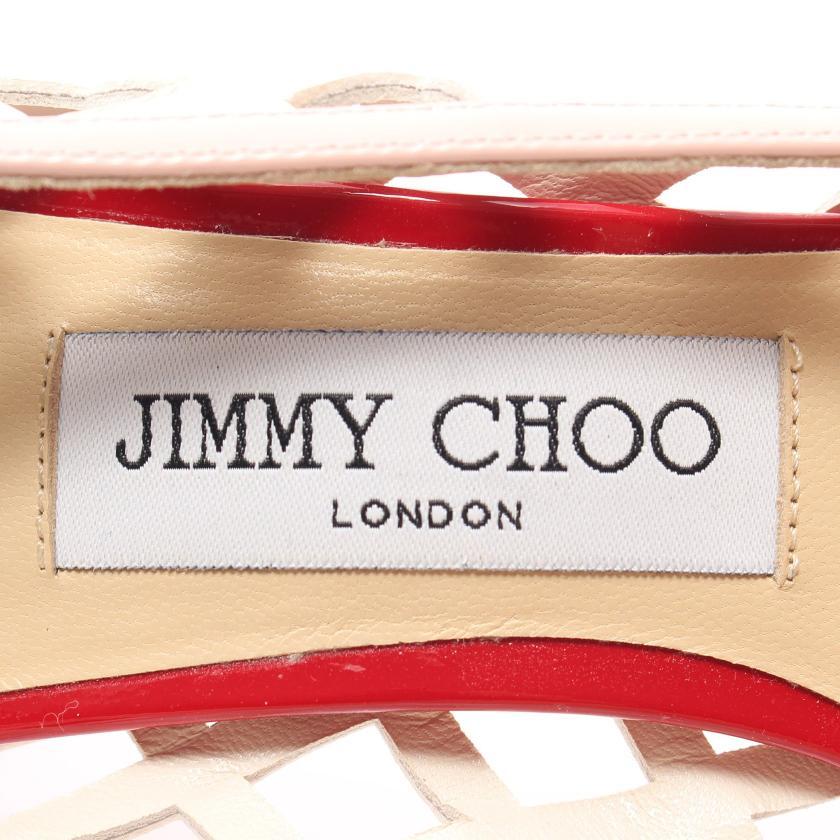 JIMMY CHOO・シューズ・ パンプス エナメルレザー レザー レッド ホワイト ピンク カッティング