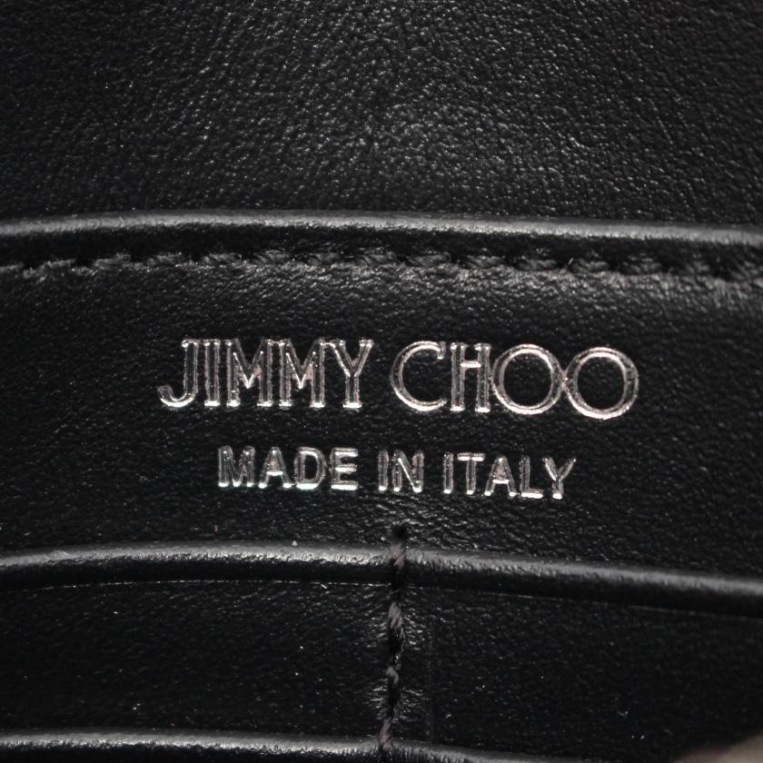 JIMMY CHOO・バッグ・PALACE チェーンウォレット レザー ブラック スタッズ スター