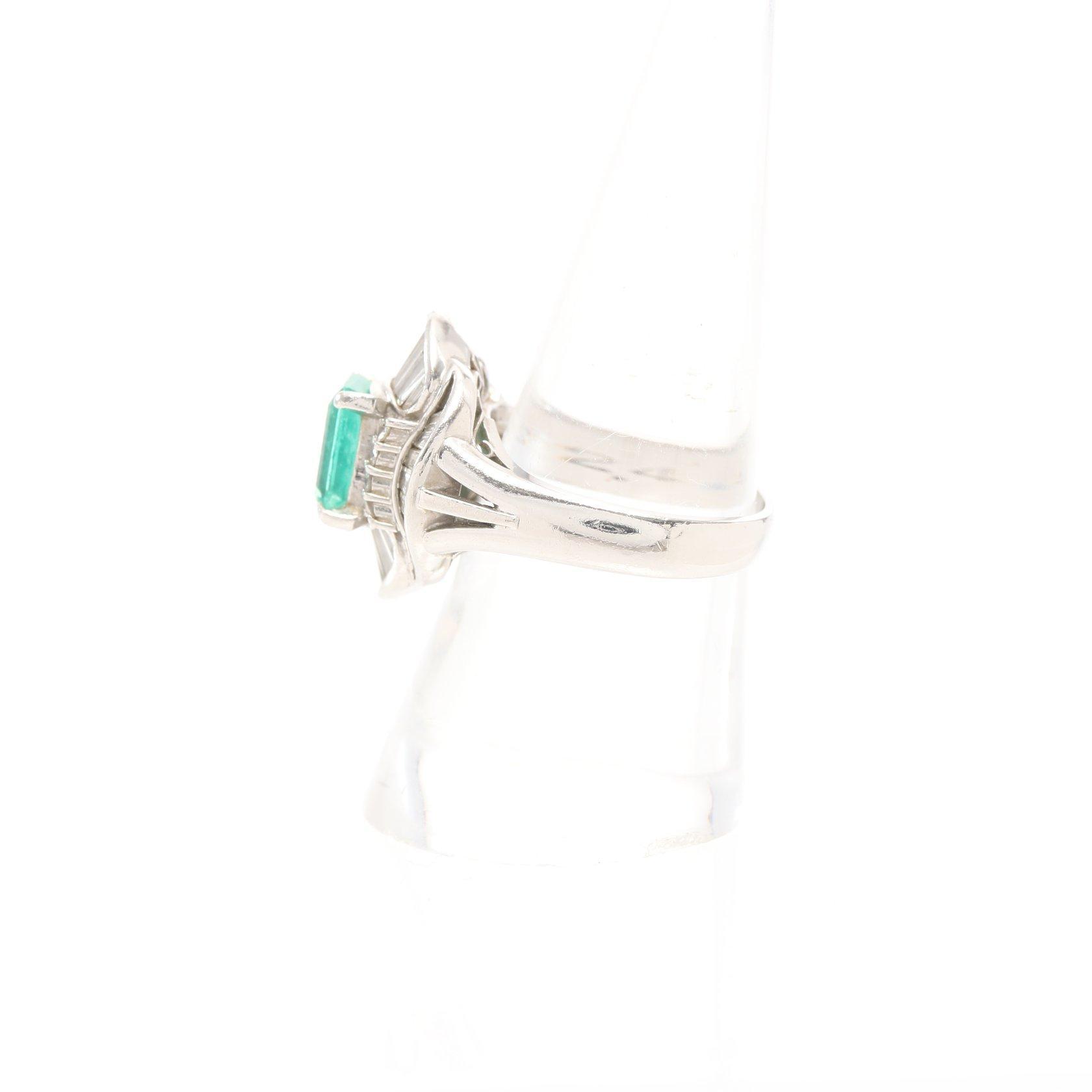 NO BRAND JEWELRY・アクセサリー・ リング 指輪 PT900 エメラルド2.48ct ダイヤモンド1.66ct プラチナ グリーン