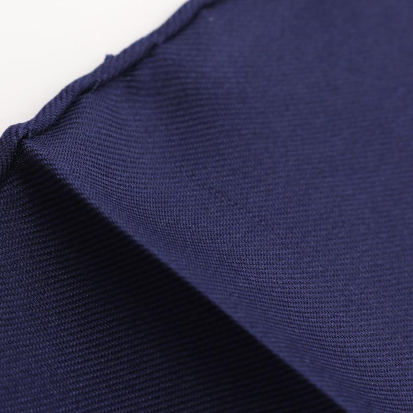 HERMES・財布・小物・カレ90「Au FIL de la SOIE」スカーフ シルク ネイビー レッド マルチカラー