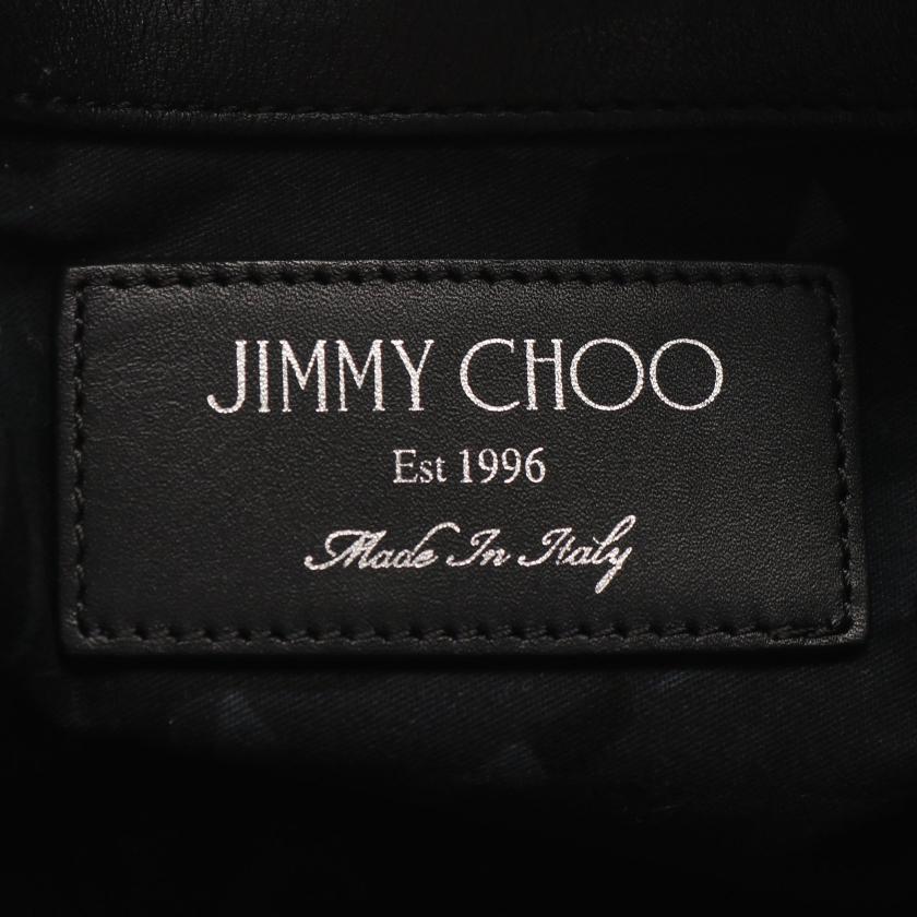 JIMMY CHOO・バッグ・DEREK クラッチバッグ レザー ブラック