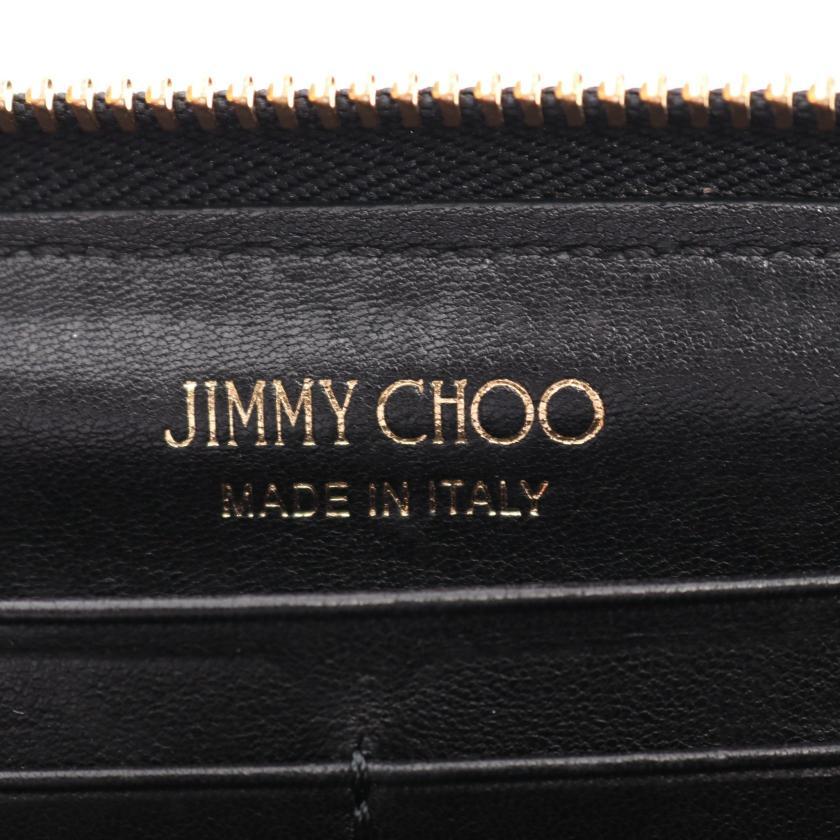 JIMMY CHOO・財布・小物・FILIPA フィリパ ラウンドファスナー長財布 レザー ブラック スタースタッズ