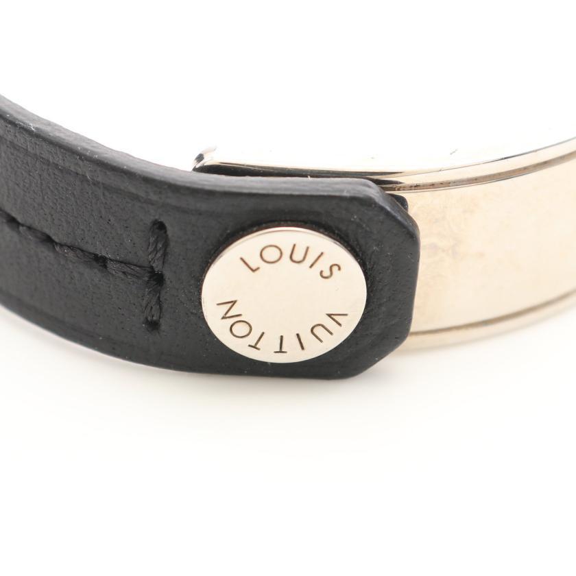 LOUIS VUITTON・アクセサリー・ブラスレ カーブイット ノワール ブレスレット バングル レザー ブラック シルバー