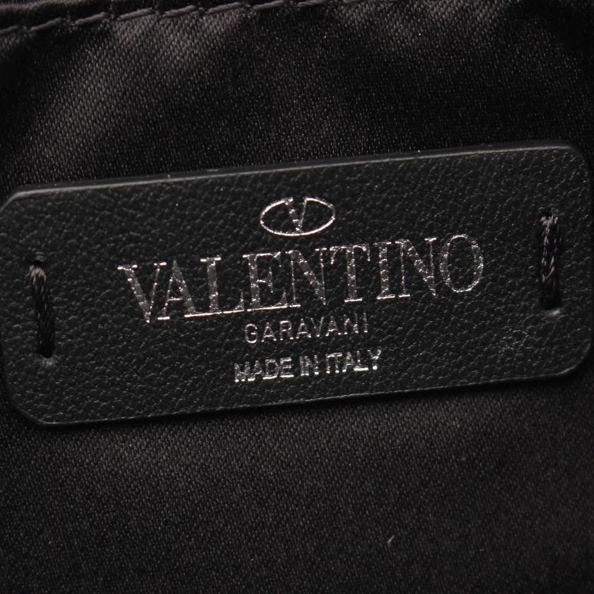 VALENTINO GARAVANI・バッグ・VLTN クラッチバッグ レザー ブラック
