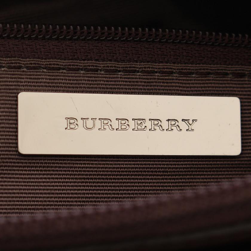 BURBERRY・バッグ・ノバチェック ショルダーバッグ ナイロンキャンバス レザー ベージュ マルチカラー