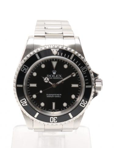 cheaper 08c10 9727a ROLEX(ロレックス)サブマリーナ ノンデイト 腕時計 自動巻き SS シルバー 黒|中古ブランド通販のRECLO