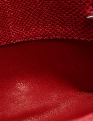 910cb89fe267 ... マトラッセ マドモアゼル ボーリングバッグ チェーンショルダー リザード 赤 シルバー金具. マウスを合わせると画像を拡大できます