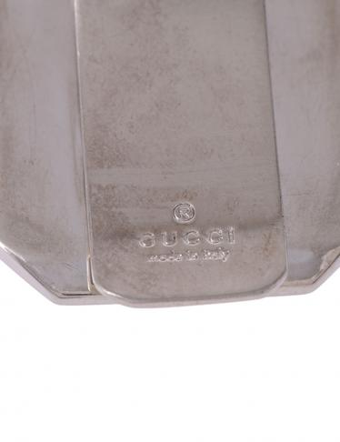 1edc4355f8af HOME · GUCCI グッチ · 財布・小物 · 財布・小物(その他); マネークリップ グッチシマ SS レザー シルバー 茶.  マウスを合わせると画像を拡大できます
