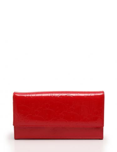 best service 1d659 905c9 Christian Dior(クリスチャンディオール)トロッター 長財布 エナメル レザー 赤|中古ブランド通販のRECLO