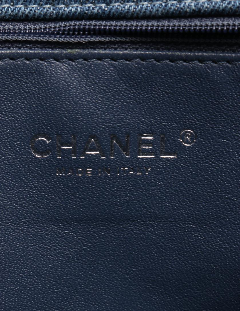 4d98496209fb CHANEL(シャネル)ボーイシャネル チェーン ショルダーバッグ デニム キャンバス レザー 青 ヴィンテージシルバー金具|中古ブランド通販の RECLO