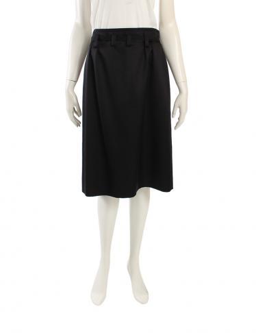 ab5b73f728be CELINE(セリーヌ) スカート ウール シルク 黒|中古ブランド通販のRECLO