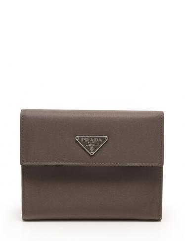 c2502c19e9fe PRADA(プラダ)三つ折り 財布 ナイロン レザー グレー|中古ブランド通販のRECLO
