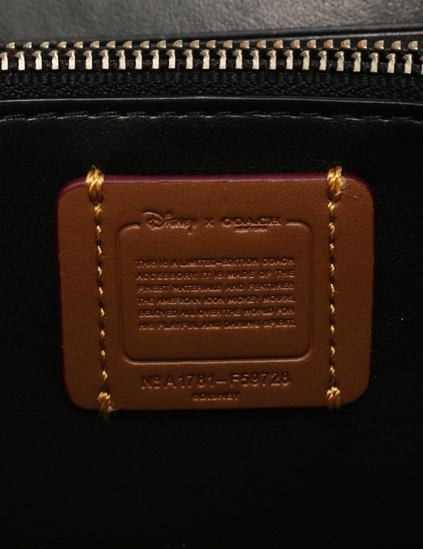 05b163df8fa9 COACH(コーチ)ラウンドファスナー 長財布 PVC レザー 黒 白 ディズニーコラボ ピースマーク|中古ブランド通販のRECLO