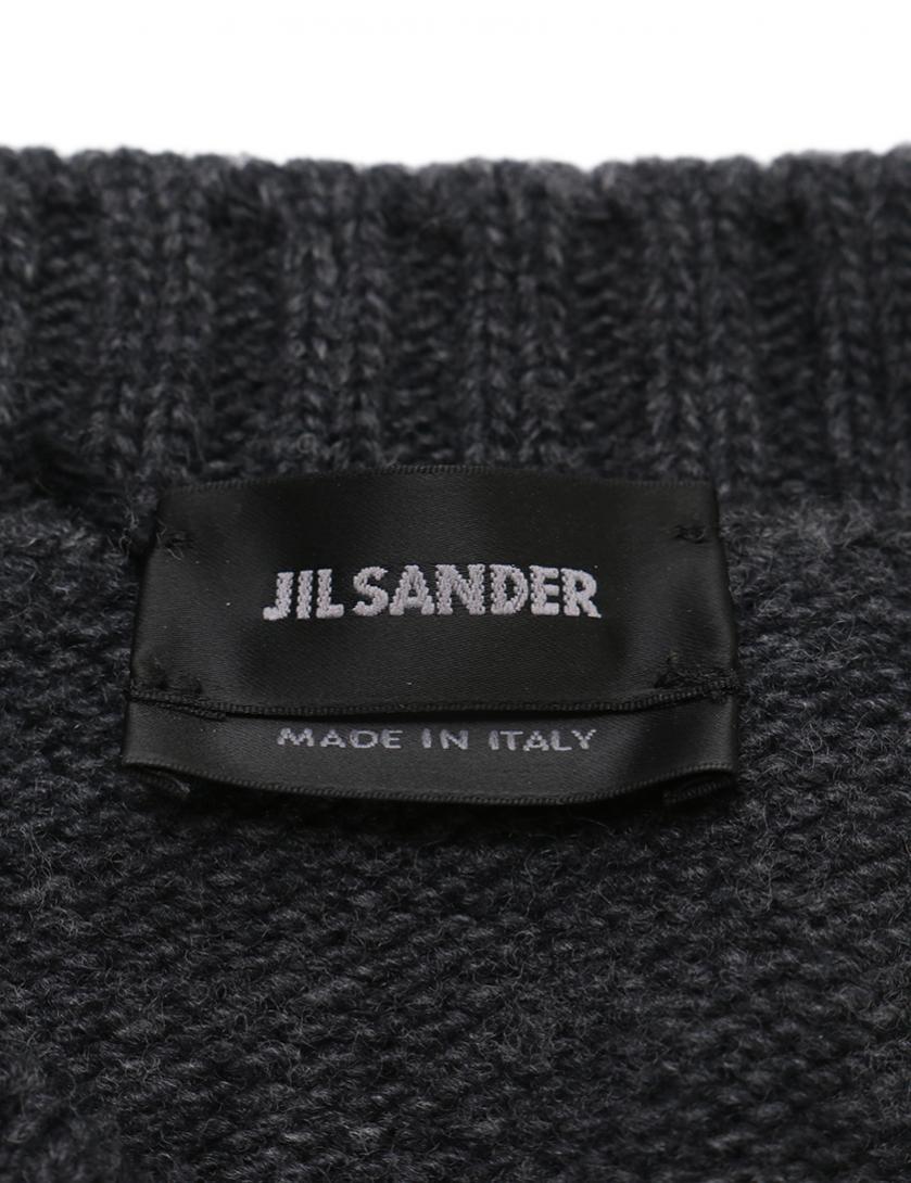 JIL SANDER・トップス・ ニット ノースリーブ ウール ダークグレー