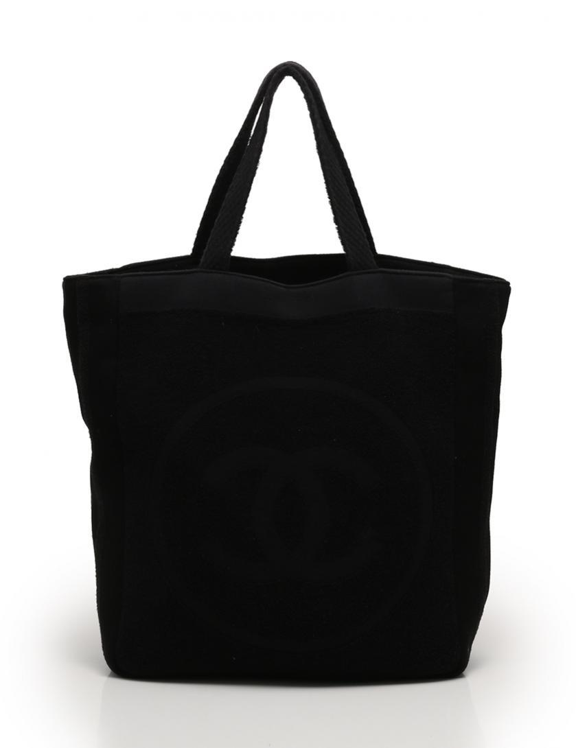 154a083f5acb CHANEL(シャネル)ビーチバッグ&タオル トートバッグ ココマーク 黒|中古ブランド通販のRECLO