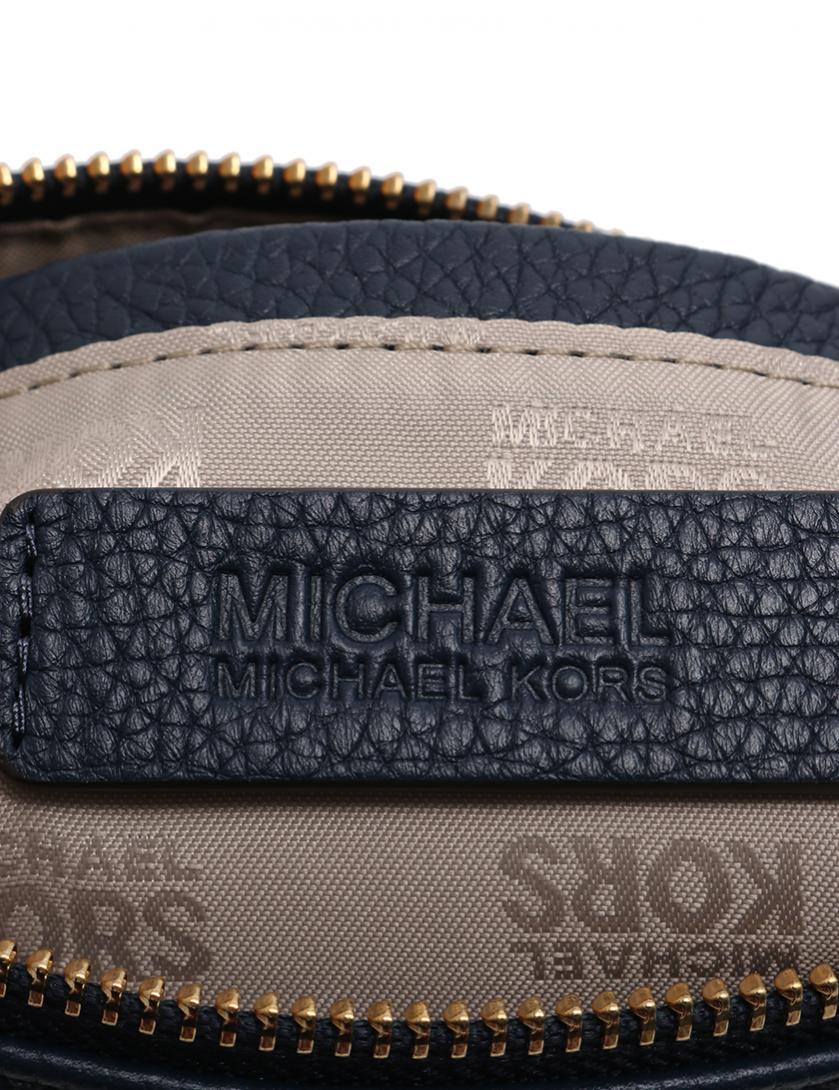 b7783a597362 MICHAEL MICHAEL KORS(マイケルマイケルコース)FULTON TRAVEL CASE ポーチ レザー ネイビー 中古ブランド通販の RECLO