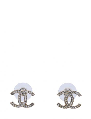 18572b64f823 CHANEL(シャネル)ココマーク ピアス ラインストーン シャンパンゴールド クリア A14V|中古ブランド通販のRECLO