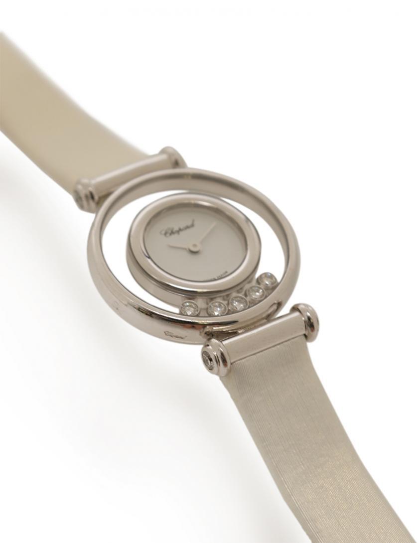 ffe8c33151 Chopard(ショパール)ハッピーダイヤモンド クオーツ 腕時計 レディース 9Pダイヤ K18WG レザー ホワイトゴールド 白 |中古ブランド通販のRECLO