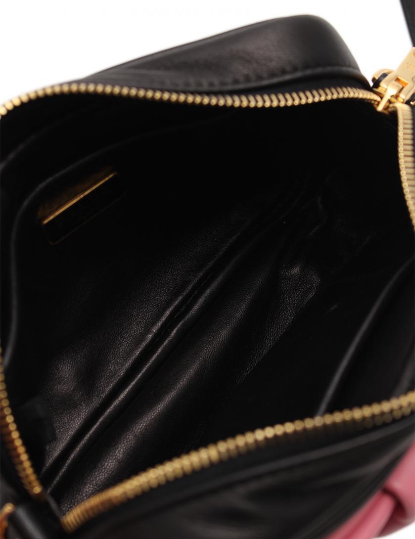 1be0ba0ac4e9 PRADA(プラダ)ショルダーバッグ リボンモチーフ レザー ピンク 黒|中古ブランド通販のRECLO