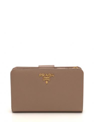 buy popular ba9a8 91c61 PRADA(プラダ)SAFFIANO METAL ミディアムジップ 二つ折り 財布 サフィアーノレザー ピンク |中古ブランド通販のRECLO