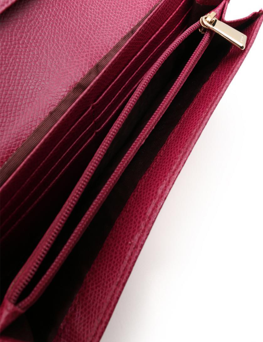 0d7d86b20a33 FURLA(フルラ)CHANTILLY 二つ折り 長財布 リボン レザー 紫|中古ブランド通販のRECLO