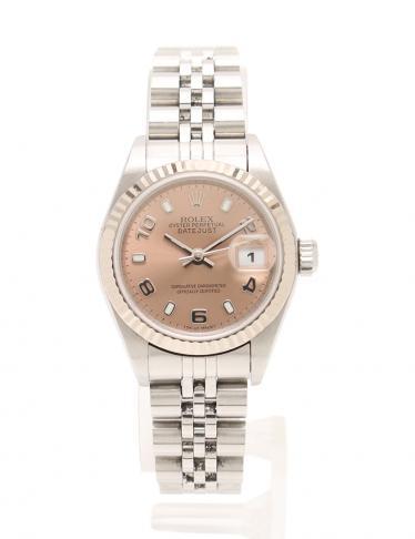factory authentic 55dcd ef077 ROLEX(ロレックス)デイトジャスト 自動巻き 腕時計 レディース SS K18WG シルバー ホワイトゴールド  ピンク文字盤|中古ブランド通販のRECLO