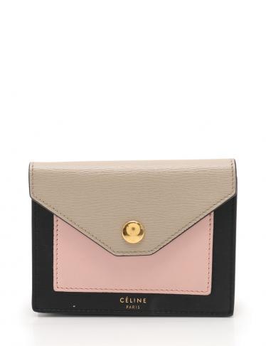 91b78672b1f6 CELINE(セリーヌ)ポケット カードホルダー カードケース レザー 黒 ピンク ベージュ|中古ブランド通販のRECLO