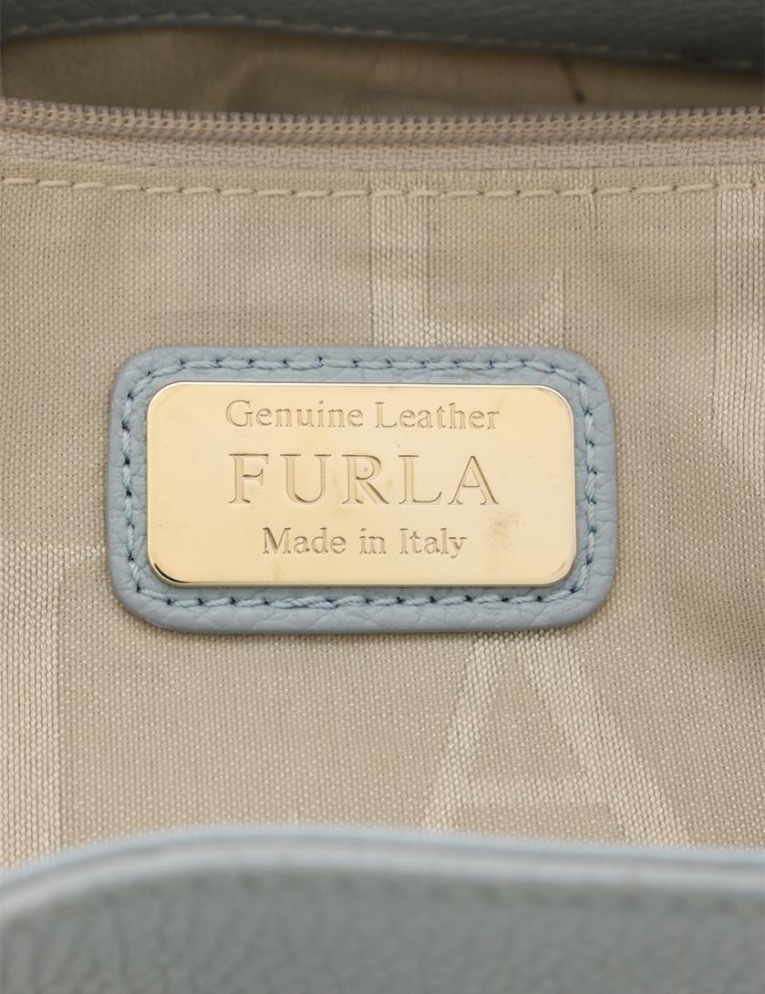 09151a7df37f FURLA(フルラ)STACY ステイシー ハンドバッグ レザー 水色 2WAY|中古ブランド通販のRECLO