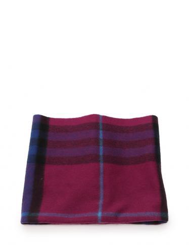 a352527a065ce BURBERRY(バーバリー)Burberry children ネックウォーマー チェック カシミヤ 紫 ネイビー  キッズ|中古ブランド通販のRECLO