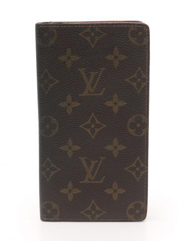 huge selection of 6dbd2 54e0e LOUIS VUITTON(ルイヴィトン)モノグラム 長札入れ 財布 PVC レザー 茶 廃盤モデル|中古ブランド通販のRECLO