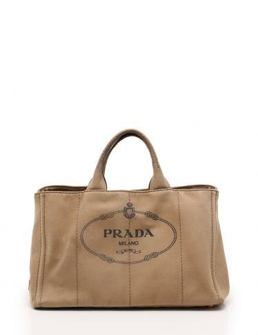 3ec6fa90af1d PRADA(プラダ)CANAPA カナパ トートバッグ キャンバス ベージュ 2WAY 中古ブランド通販のRECLO
