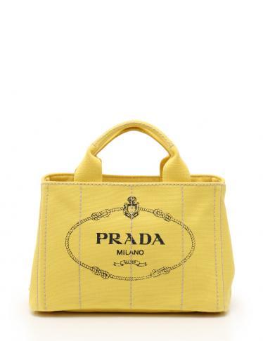 a31137c041da PRADA(プラダ)CANAPA カナパ トートバッグ キャンバス 黄 2WAY|中古ブランド通販のRECLO