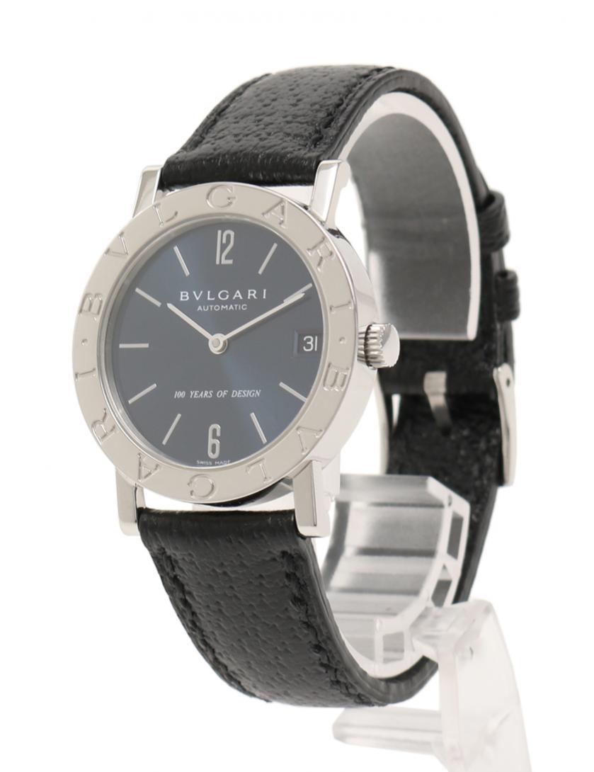5c9da98d1589 BVLGARI(ブルガリ)ブルガリブルガリ 腕時計 メンズ 自動巻き SS レザー シルバー 黒 100周年限定モデル 中古ブランド通販のRECLO