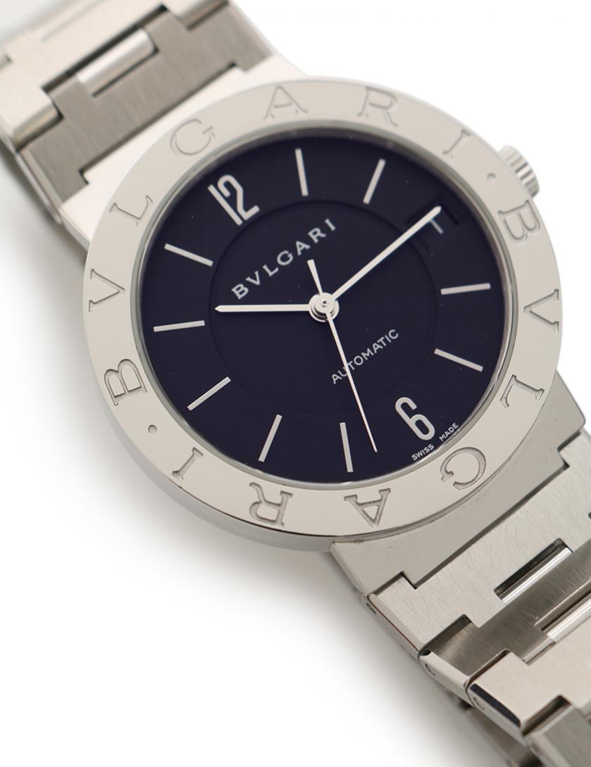 d665d9fdde8d BVLGARI(ブルガリ)ブルガリブルガリ 腕時計 メンズ 自動巻き SS シルバー 黒 中古ブランド通販のRECLO