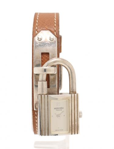 pretty nice c8b81 0da04 HERMES(エルメス)ケリーウォッチ 腕時計 レディース クオーツ SV925 クシュベル シルバー 茶 ...